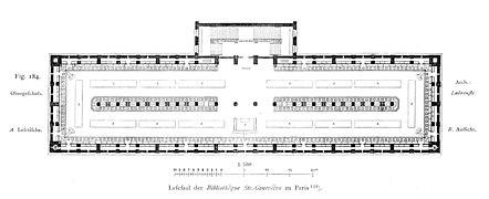 Biblioteca de santa genoveva wikipedia la enciclopedia for Planta arquitectonica biblioteca