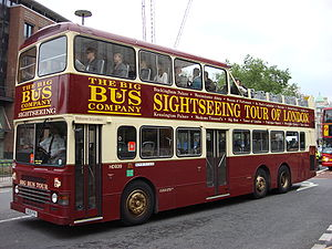 Big Bus Tours - Duple Metsec bodied Dennis Condor on Cannon Street, London in May 2007