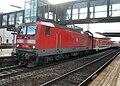 Bischofsheimer (Mainspitze) Bahnhof- auf Bahnsteig zu Gleis 3- Richtung Mainz (RB 143 076) 29.3.2009.JPG