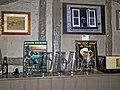 Black Horse Inn interior, Nuthurst West Sussex England, timber-frame wall and shelf 01.jpg