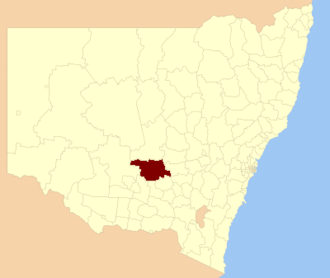 Bland Shire - Location in New South Wales