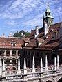 Blick über den Landhaushof zum Grazer Uhrturm.JPG
