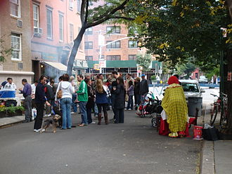 Block party - A block party in Manhattan