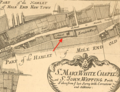 Blome map, 1775, showing location of Whitechapel Mount.png