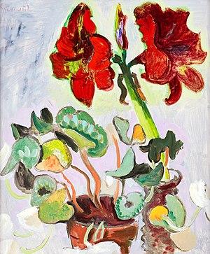 Isaac Grünewald - Image: Blomsterstilleben med amaryllis