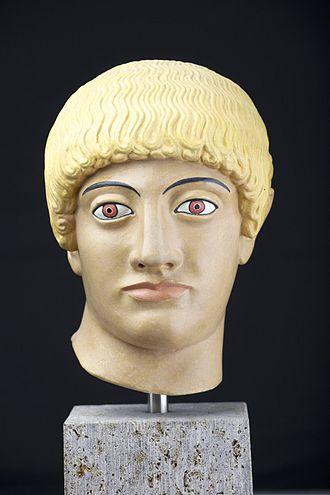 Blond Kouros's Head of the Acropolis - Image: Blonder Kopf von der Akropolis 1
