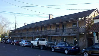 California Historical Landmarks in Sonoma County, California - Image: Blue Wing Inn 2