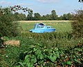 Blue boat in a green field - geograph.org.uk - 553164.jpg