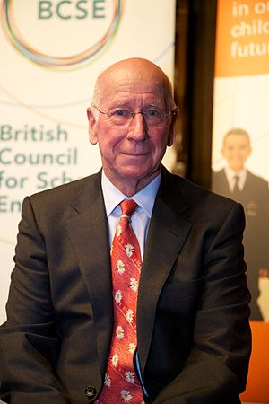 Bobby Charlton - Charlton at Manchester Town Hall in November 2010