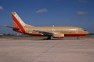 History of Southwest Airlines - Boeing 737-500 at Amarillo, Texas