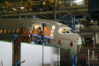 "Boeing 787 Dreamliner - Assembly of ""Section 41"", the nose section of the Boeing 787"