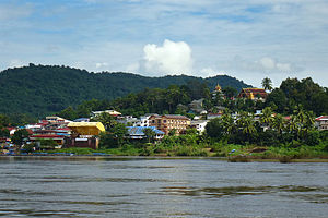Ban Houayxay viewed from the Mekong River
