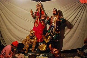 Bonbibi - Enacting the story of Bonbibi in Bonbibi-r Pala (Sundarban, India)