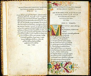 Book printed by Aldus Manutius-Horace