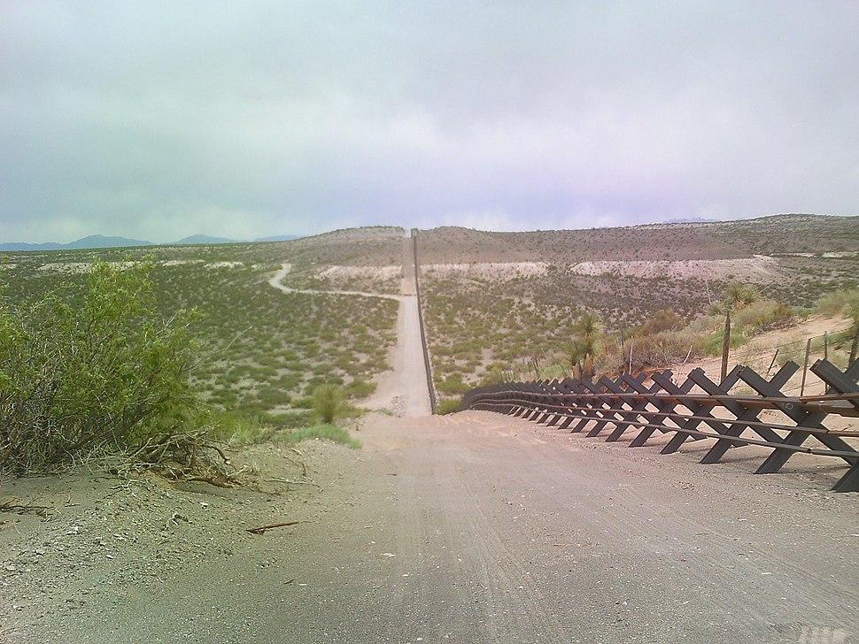 Border barrier near IBM 9