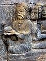 Borobudur - Divyavadana - 088 N, The Landing of Bhiru and foundation of Bhiruka (detail 2) (11706038824).jpg