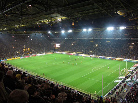 The Bundesliga has the highest average attendance of any football league in the world. Borussia Dortmund has the highest average attendance at Signal Iduna Park of any football club in the world. Borussia Dortmund Hannover 96.jpg