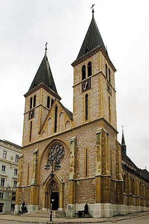 Sacred Heart Cathedral, Sarajevo - Image: Bosnien catholic church in Sarajevo 2