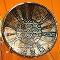 Bowl with geometric interlace pattern, Iran, Kashan, dated June 1329 (Ramadan 729 AH), underglaze-painted stonepaste - Royal Ontario Museum - DSC04663.JPG