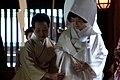 Bridal party at the Meiji Shrine, Tokyo; April 2009 (02).jpg