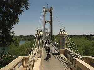 Old Bridge above the Euphrates in Deir ez-Zor, Syria