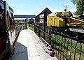 Bridge of Dun railway station, Caledonian Railway - crane.JPG