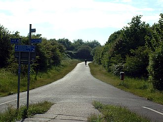National Cycle Network - The first section of the NCN to be built was the Bristol & Bath Railway Path, opened in 1984