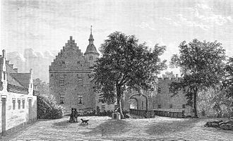 Broholm - Broholm, an old manor of 1326 located in Funen County, Denmark, 1873