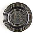 Bronsmynt, infattat av svarvad ebenholts - Skoklosters slott - 110693.tif