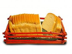 Loaf of bread in a basket