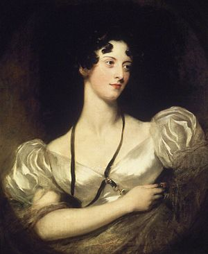 Caroline Fry - Portrait of Miss Caroline Fry by Sir Thomas Lawrence