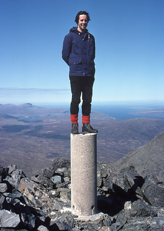 Bruach na Frìthe - The summit trig point in 1976