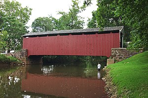 Cocalico Creek - Bucher's Mill Covered Bridge spans Cocalico Creek in Lancaster County, Pennsylvania