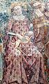 Buffalmacco, trionfo della morte, giardino 06 donna con cagnolino.jpg