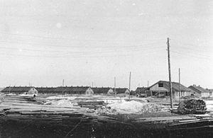 Salaspils concentration camp - Nazi propaganda photograph of Salaspils concentration camp in 1941