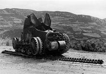Destroyed Yugoslavian Renault NC tank