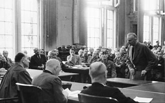 Carl Friedrich Goerdeler - On trial at the People's Court, Roland Freisler presiding at left.