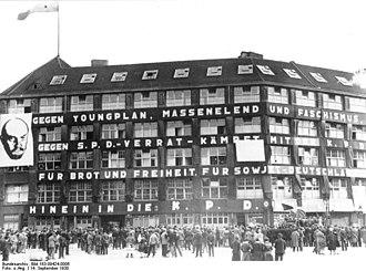 Karl-Liebknecht-Haus - Karl-Liebknecht-Haus in 1930