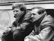 Bundesarchiv Bild 183-1986-0423-028, SG Dynamo Dresden, Trainer Klaus Sammer, Dieter Riedel (cropped)
