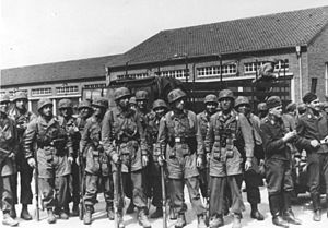 German paratroopers at Eben-Emael
