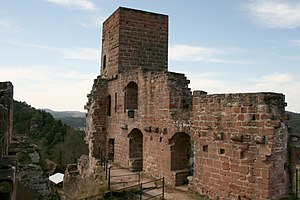 Altdahn Castle - Image: Burg Altdahn Palas