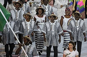 2016 Summer Olympics Parade of Nations - Burkina Faso representation during the parade