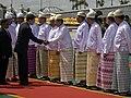 Burmese SPDC members greet Abhisit Vejjajiva.jpg