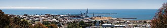 Bass Strait - Image: Burnie CBD and Port Panorama