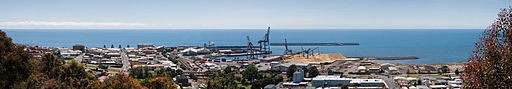 Burnie CBD and Port Panorama