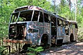 Bus-wreck in woodland near town Ryd in South-Sweden.jpg