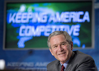 American Competitiveness Initiative - President George W. Bush participates in a Panel on the American Competitiveness Initiative at Cisco Systems, Inc in San Jose, California, Friday, April 21, 2006.