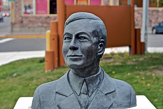 Robert W. Service - A bust of Service in Whitehorse