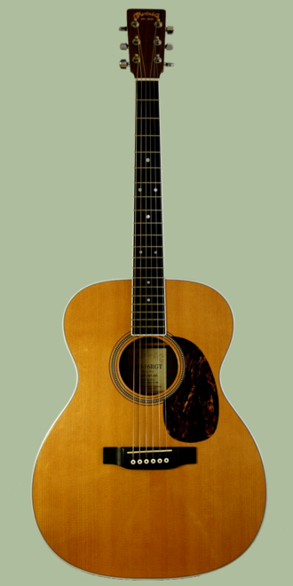 Acoustic guitar - Example of a concert-shaped guitar by C.F. Martin