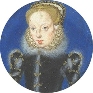 "Lady Catherine Grey - Lady Katherine Grey ""The La Kathe'/ Graye. / Wyfe of Therle of / Hertford"" is inscribed on the reverse of this miniature by Levina Teerlinc, c. 1560"